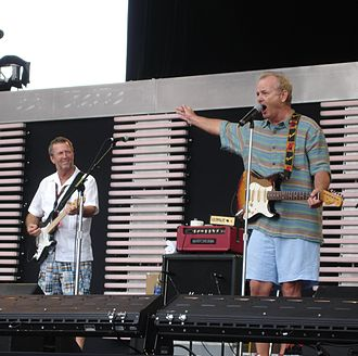 Bill Murray - Eric Clapton and Murray kicking off the Crossroads Guitar Festival in 2007