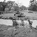 Cruiser Mk IVA tanks of 1st Armoured Division crossing a stream near Hindhead in Surrey, 14 May 1941. H9717.jpg