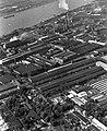 Csepel, légifotó a Csepel Vas- és Fémművekről. Előtérben a Szerszámgépgyár I. és II. sz. csarnoka. Fortepan 18271.jpg