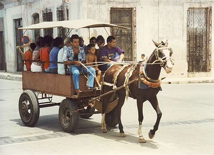 Public transportation in Cuba during the Special Period (1991-2000) Cuban transport.jpg