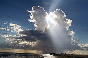 English: Cumulonimbus cloud over the Gulf of M...