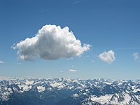 Cumulus cloud above Lechtaler Alps at tannheim, Austria.jpg