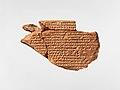 Cuneiform tablet- commentary on Enuma Anu Enlil, tablet 5 MET DP-442-002.jpg