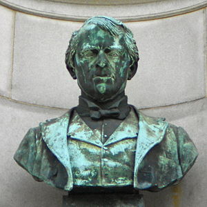 Andrew Gregg Curtin - Bust of Andrew Gregg Curtin (1912), by Moses Jacob Ezekiel, Smith Memorial Arch, Philadelphia, Pennsylvania.