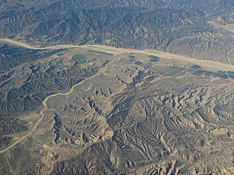 Cuyama River - Aerial view of Cuyama River