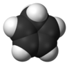 Spacefill model of cyclopentadiene