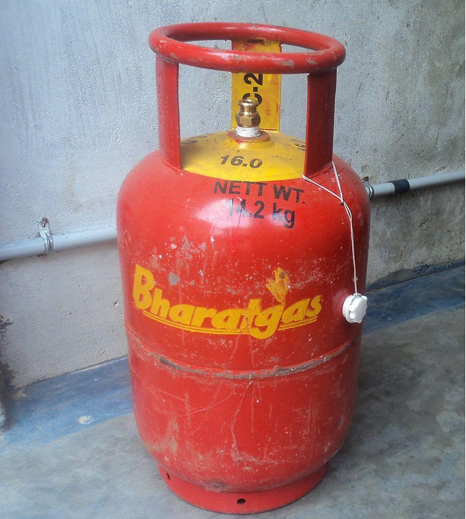 File:Cylinder,gas, LPG,bharat,Tamil Nadu457.jpeg ...