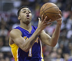 Russell with the Lakers in December 2015 D'Angelo Russell rookie.jpg