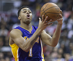 2015 NBA draft - D'Angelo Russell was selected second by the Los Angeles Lakers.
