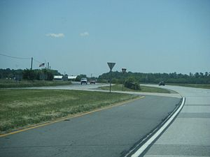 Delaware Route 1 - Southbound DE 1 at Frederica Road south of Frederica