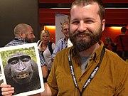 DIScott Monkey Selfie Wikimania 2014.JPG