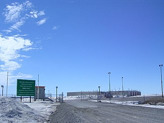 Rankin Inlet Airport - The DND Forward Operating Location hangars for CF-18's in Rankin Inlet