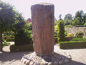 Laeborg Runestone - DR 26 in Læborg, Denmark.