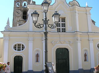 church building in Anacapri, Italy