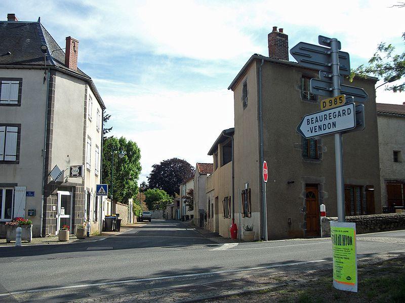 Departmental road 985 towards Beauregard-Vendon, in Saint-Myon, Puy-de-Dôme, Auvergne-Rhône-Alpes, France [10867]