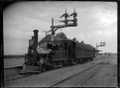 D Class steam locomotive, NZR no 197, 2-4-0T type, at Lower Hutt, 1906. ATLIB 277767.png