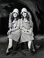 Daisy and Violet Hilton, conjoined twins, dressed to go out. Wellcome V0029600.jpg