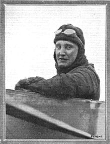 Damer Leslie Allen in his aircraft