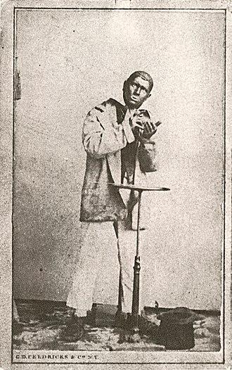 Dan Emmett - Photograph of Dan Emmett in blackface, probably early 1860s.