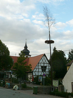 Dannenfels - Timberframe, church and maypole