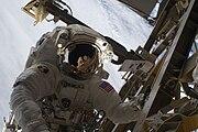 Danny Olivass during STS-128's third spacewalk