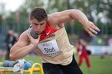 David Storl durante i campionati europei under 23 di Ostrava 2011.