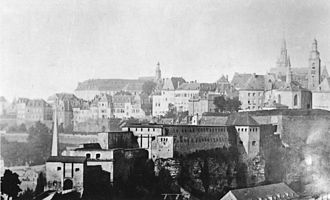 Bock (Luxembourg) - Photograph of the four Bock gates (c. 1867)