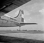 De Douglas DC-4 Edam met de KLM huisstijl en voorzien van het Flying Dutchman, Bestanddeelnr 255-8916.jpg