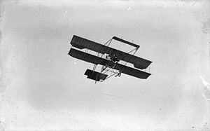 De Havilland - The de Havilland Biplane No. 2 or F.E.1 in flight, circa 1911