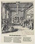 Allegorie des Disputs zwischen Remonstranten (rechts) und Contraremonstranten (links)