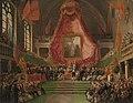 De plechtige installatie van de Universiteit van Gent door de prins van Oranje in de troonzaal van het stadhuis op 9 oktober 1817., SK-A-4088.jpg