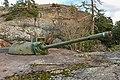 Deactivated 100 56 TK coastal gun, Upinniemi, Kirkkonummi (December 2017).jpg