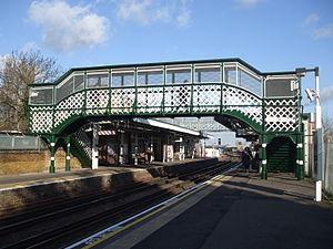 Debden tube station - Image: Debden stn east