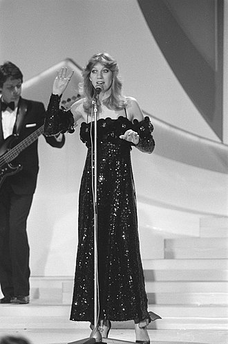 Eurovision Song Contest 1980 - Maggie MacNeal during rehearsals