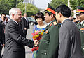 Defense.gov News Photo 101011-F-6655M-013 - Secretary of Defense Robert M. Gates is greeted by Vietnamese Minister of Defense Gen. Phung Quang Thanh at the Vietnamese Military headquarters in.jpg