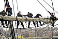 Defense.gov News Photo 120314-N-HN195-769 - Navy sailors place the sail on the yard of the mizzenmast aboard the USS Constitution in Charleston Mass. on March 14 2012. The sailors assigned.jpg