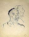 Dehodencq A. - Ink - Portrait d'homme, trois-quart face et profil - 19.9x25.6cm.jpg