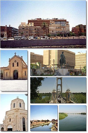A collage of Deir ez-Zor