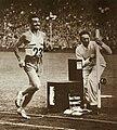 Delfo Cabrera, Final de la Maratón de los Juegos Olímpicos de Londres (07-08-1948).jpg