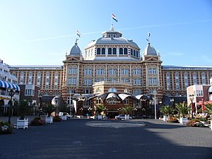 Kurhaus of Scheveningen - Kurhaus of Scheveningen, front view in detail