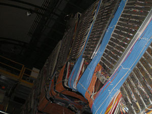 DELPHI experiment - Upper part of the  detector