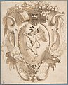 Design for a Cartouche with a Coat of Arms containing a Griffin MET DP808000.jpg