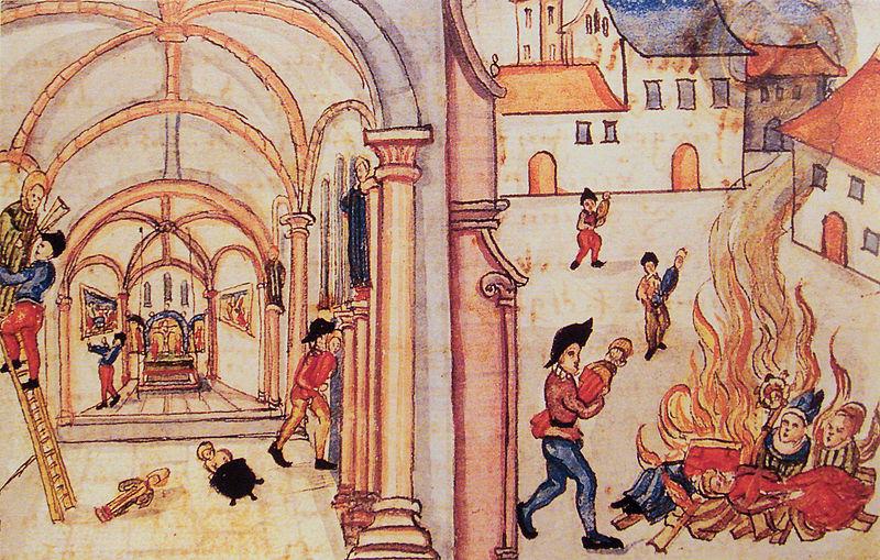 Iconoclasia en Zúrich en 1524.
