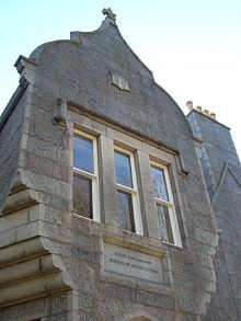 Detail of Garthdee House, part of the Scott Sutherland School of Architecture, The Robert Gordon University, Aberdeen.JPG