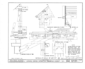 Details- Framing of Sloping Post B, Framing of Bridge End at Eaves, Section A-A, Framing of Arch at Floor, Framing of Arch at Pier, Window Deatils - Covered Bridge, HABS NH,7-HOP.V,2- (sheet 4 of 4).png