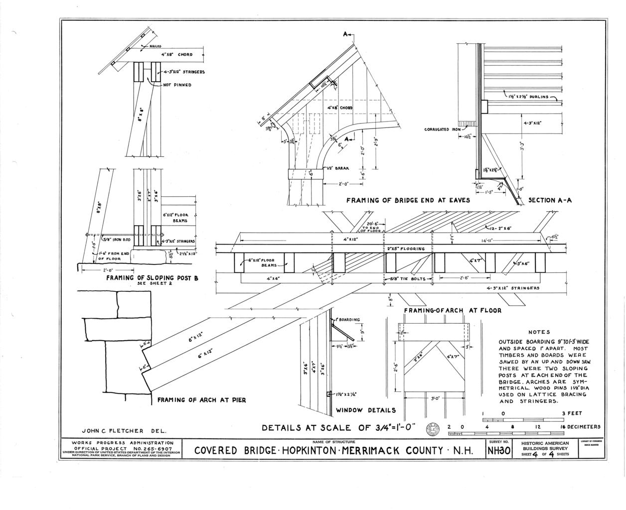 File Details Framing Of Sloping Post B Framing Of Bridge
