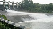 Dimna Dam during monsoon season.jpg
