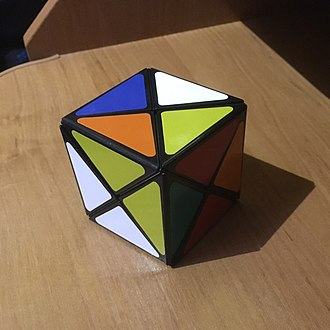Dino Cube - The six-colour Dino Cube, fully scrambled