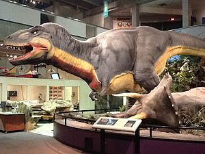 Saint Louis Science Center - Dinosaur diorama on the lower level