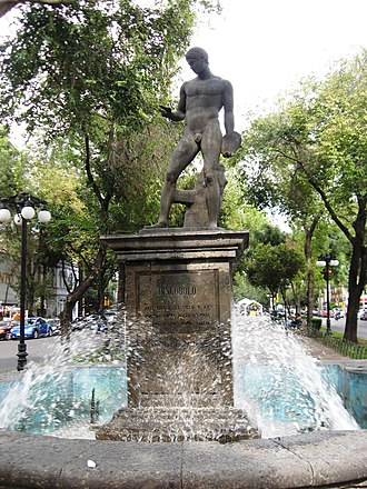 Discophoros - Discophorus fountain, on Calle Obregon in Colonia Roma in Mexico City
